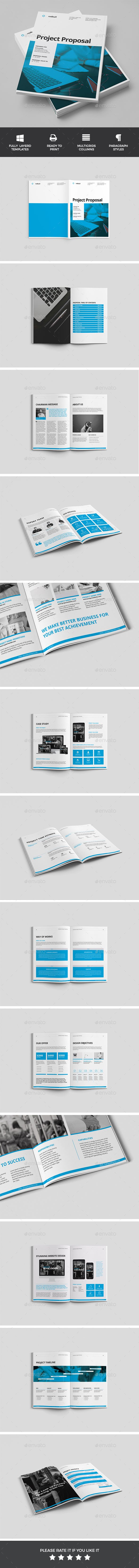 Clean Project Proposal Template InDesign INDD #design Download: http://graphicriver.net/item/proposal/14260739?ref=ksioks
