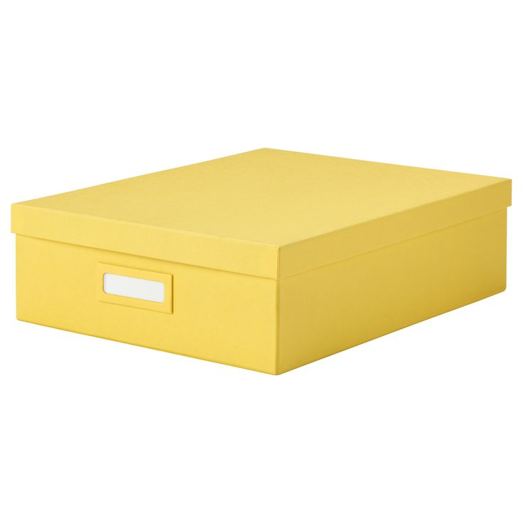 TJENA Box with compartments - yellow - IKEA