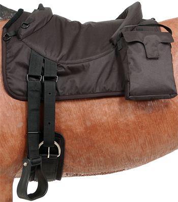 Tough-1 Premium Bareback Pad with Accessory Bags | ChickSaddlery.com