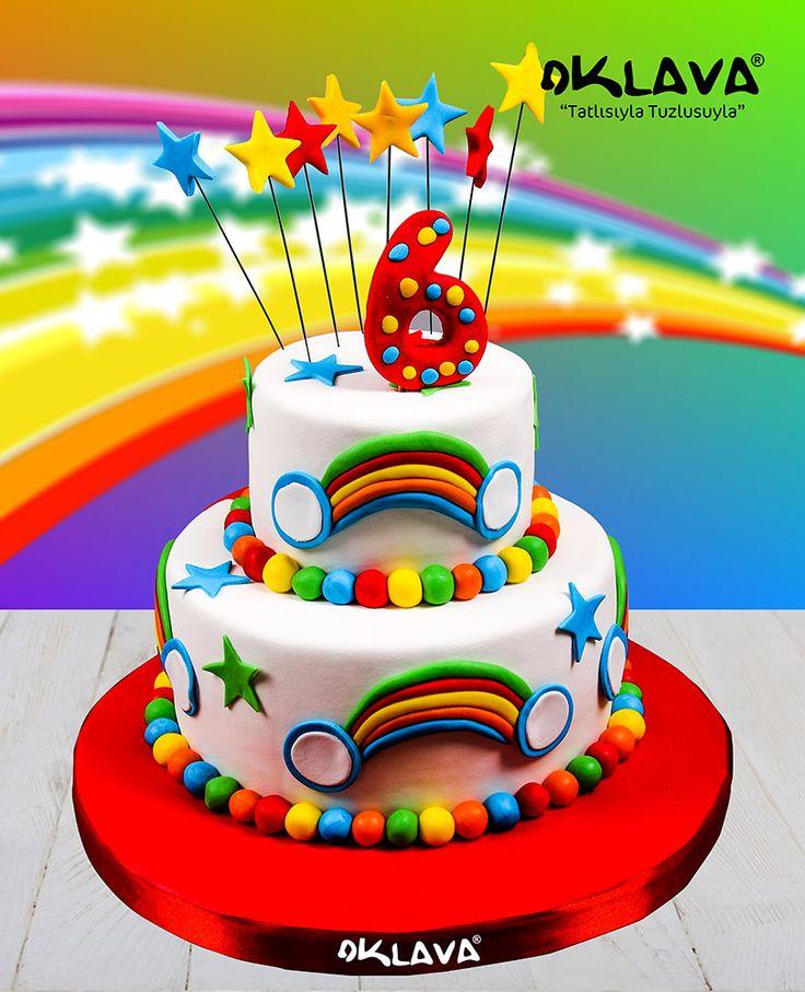 Gök Kuşağı Doğum Günü Pastası Ürün Kodu : 1383 https://www.pastasipariset.com/1623-gok-kusagi-dogum-gunu-pastasi.html