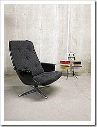 Space Age armchair swivel chair Robin Day, style Alf Svensson Galaxy swivel chair– vintage design draaistoel Dux Space Age