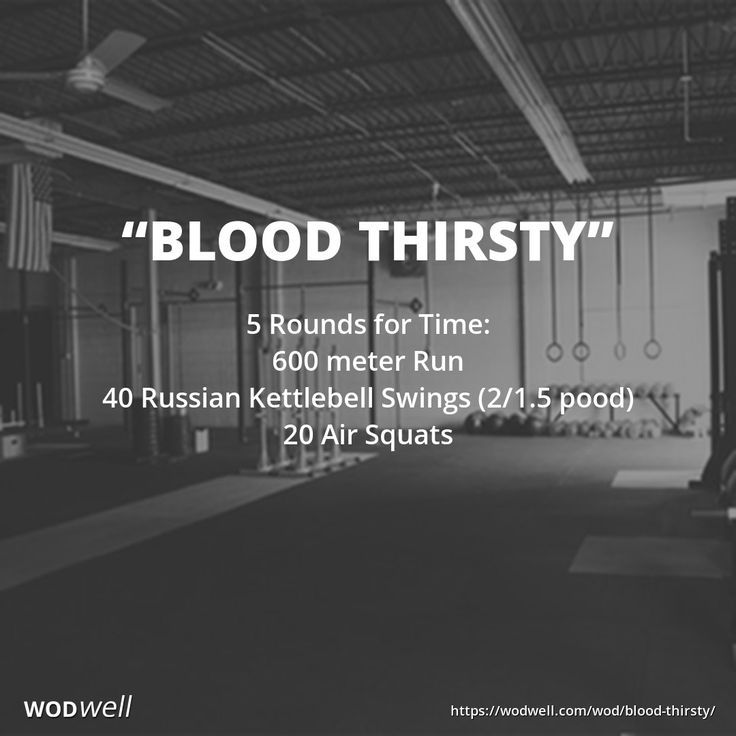 5 Rounds for Time:: 600 meter Run; 40 Russian Kettlebell Swings (2/1.5 pood); 20 Air Squats