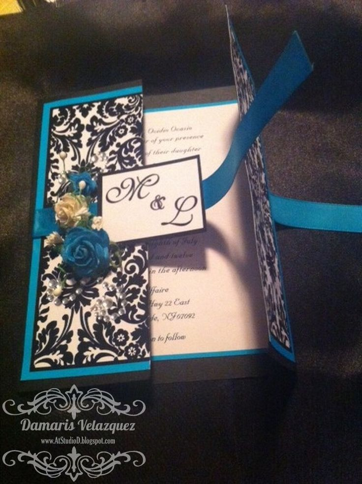 Handmade Wedding Invitations - Tutorial - Damask