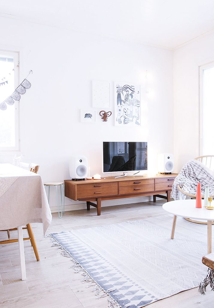 Decor 8. Living room, tv nordic