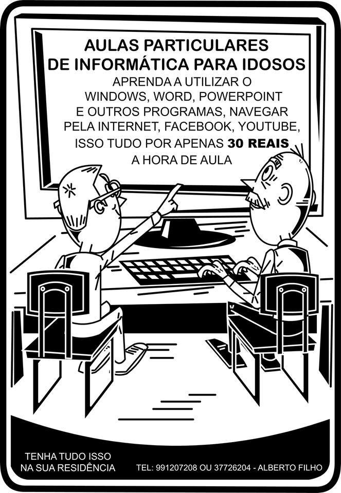 Panfleto que no Flash para aulas de informática, o desenho é criação minha