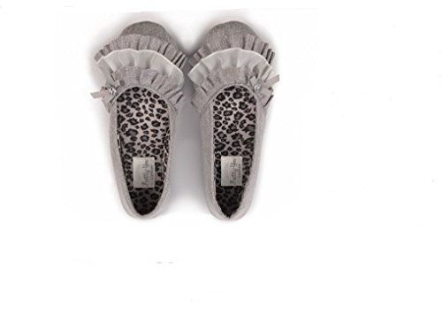 Pretty You London Womens ELSBETH GREY Slippers large >>> Click on the image for additional details.