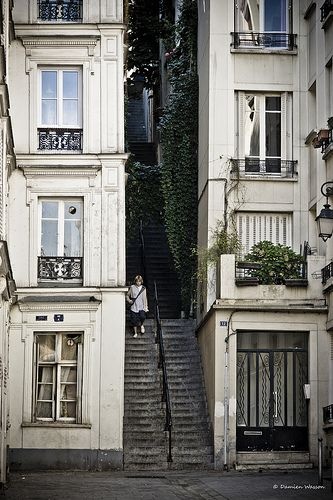 Passage Cottin in Montmartre, Paris (France)..