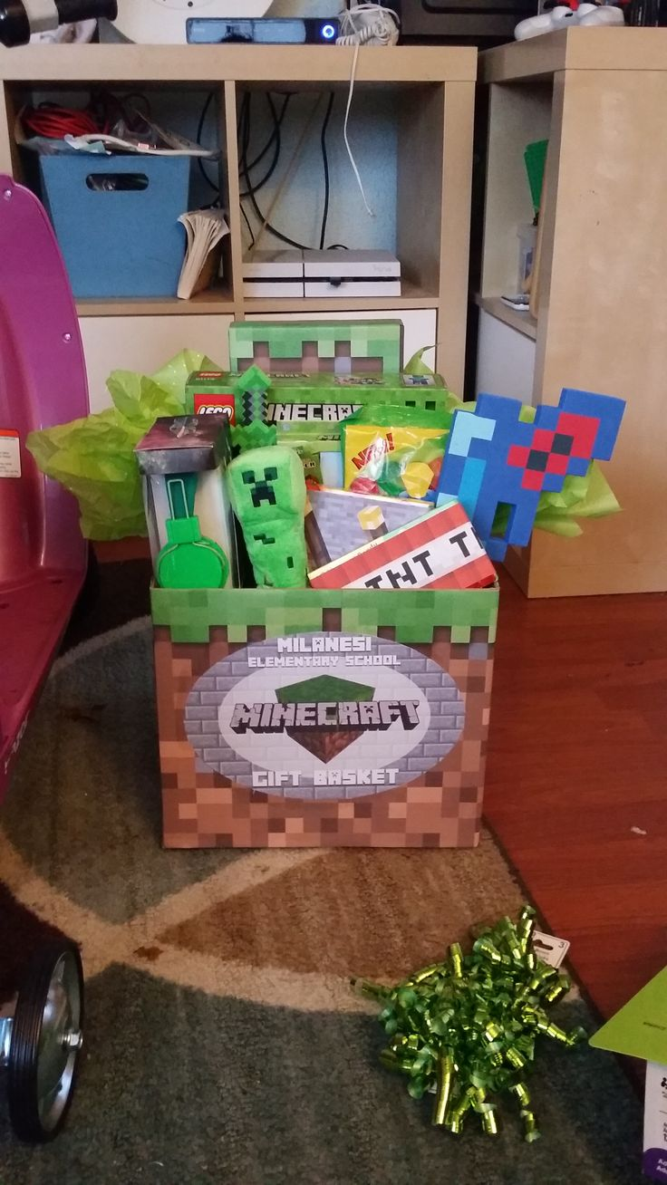43 best images about sea bunny on pinterest bunny slippers slug and - The Minecraft Raffle Basket I Made For My Sons Halloween Pto Event
