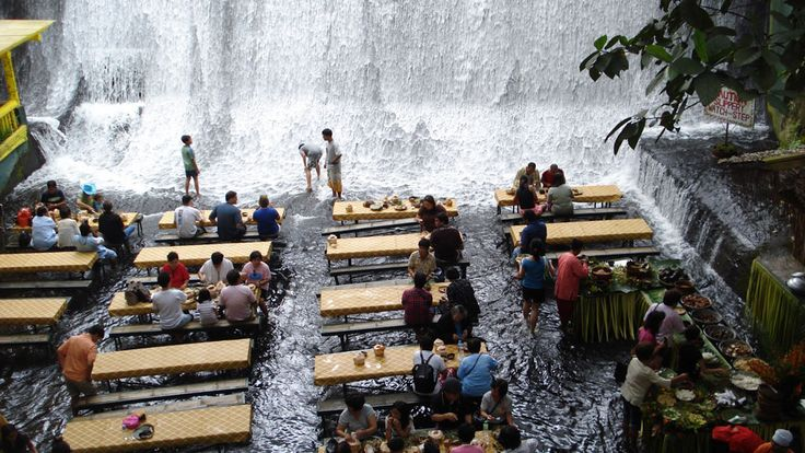 This restaurant at the bottom of a waterfall is a must visit