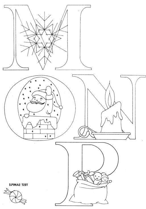 Christmas Alphabet to enhance your Christmas embroideries