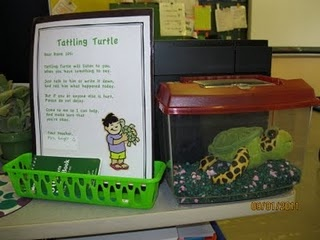 Tattling turtle - I love how he looks just like a real class pet! too cute