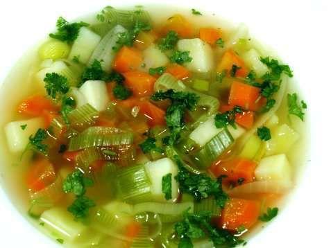 Bilde av Grønnsakssuppe med poteter oppskrift.