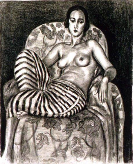 Odalisca in pantaloni a strisce, Henri Matisse, 1925
