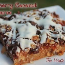 Raspberry Coconut Squares recipe