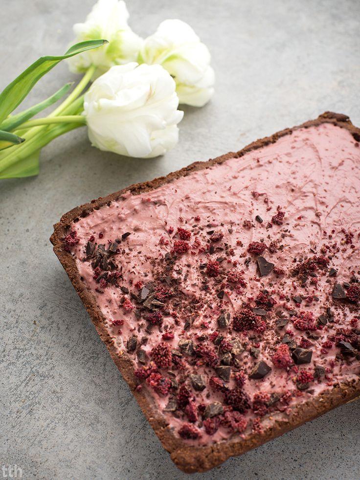 Mazurek czekoladowo-malinowy (wegański, bezglutenowy, bez cukru) | true taste hunters | Bloglovin'