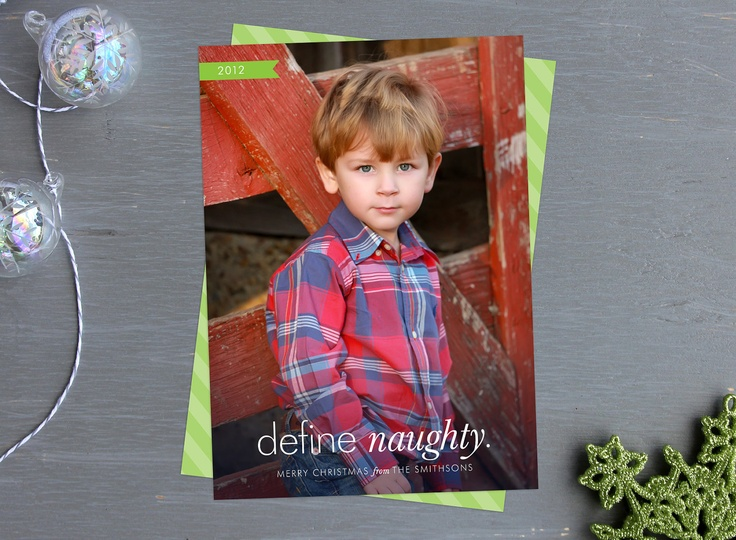 Photo Holiday Cards - Define Naughty Picture Christmas Cards - Witty and Humorous. $49.75, via Etsy.