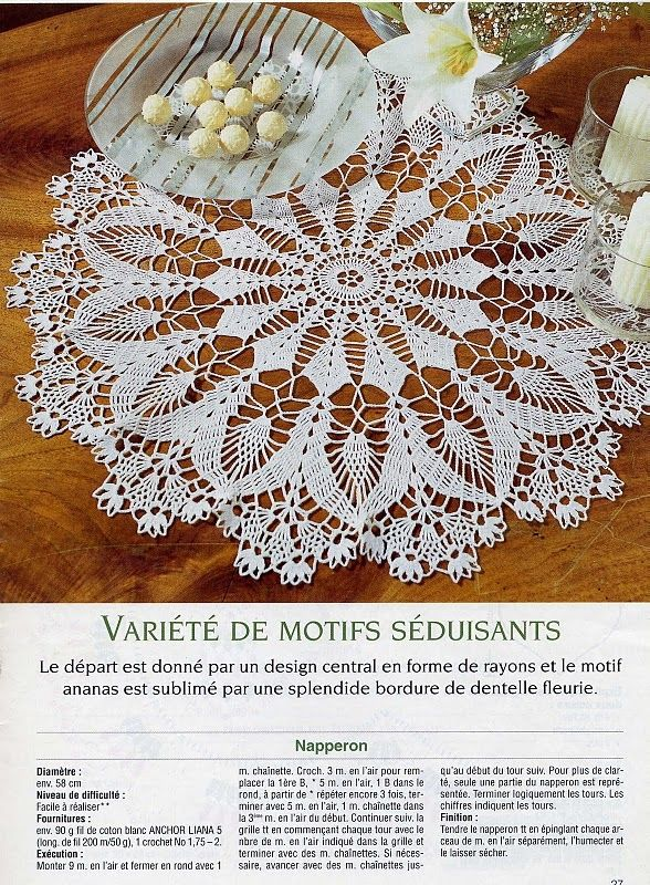 #47_CRYSTAL Lacy Crochet Doily (part 1 of 2)