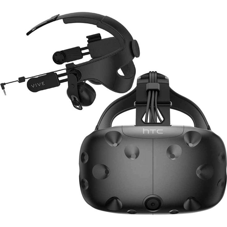 HTC - Vive Virtual Reality System & Deluxe Audio Strap Package for Compatible Windows PCs