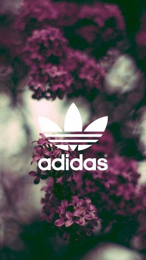 Imagem de adidas, wallpaper, and flowers