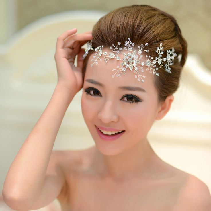 Online Shop Bride white crystal frontlet bride hair accessories