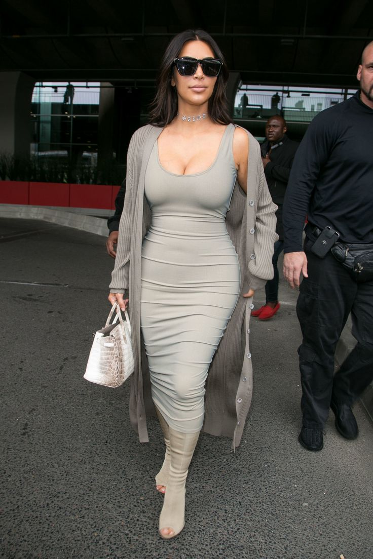 Kim has lost over 60 pounds since giving birth in December, thanks to a lot of exercise and her Atkins diet. And there's nothing like a skintight Wolford dress to celebrate all that hard work.