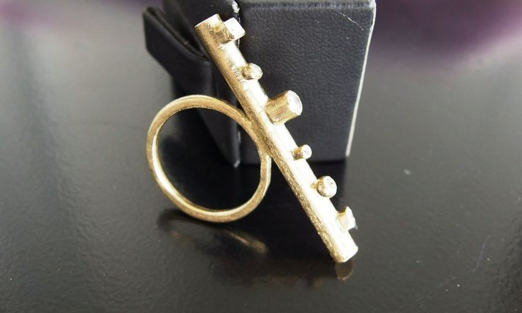 brass ring with zirconia