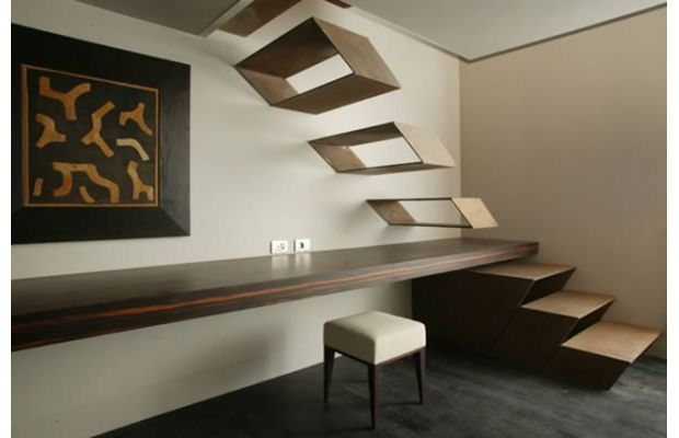 Milan's Gray Hotel Floating Staircase