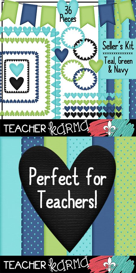 Classroom Design Paper : Teal lime green navy blue classroom design kit