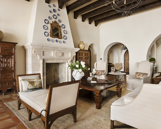 16 best images about spanish decor on pinterest spanish spanish revival and blue tiles - Spanish home interior design ideas ...