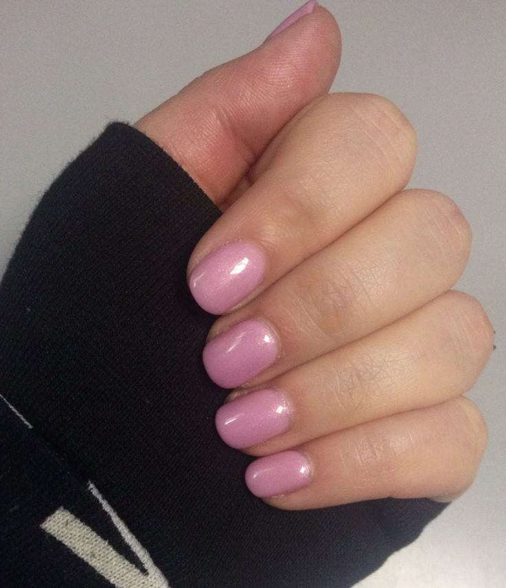 Sally Hansen Gel Rosey Cheeks And 1coat Of Orly Gel Fx In Rose Colored Glasses To Tone Down