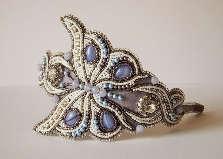 Bead embroidery headband 1 by Priscillascreations on DeviantArt