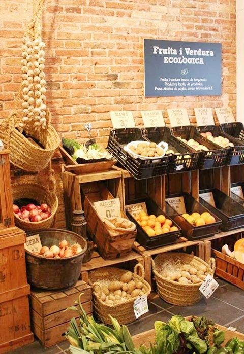 I Love Food   Barcelona This looks like the little vegetable shop Dylan and I shopped at!