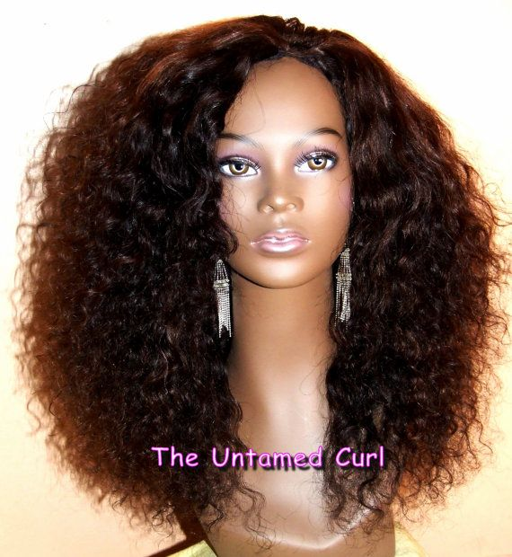 Virgin Malaysian Kinky Curly Wave Romance Curl U Part Wig