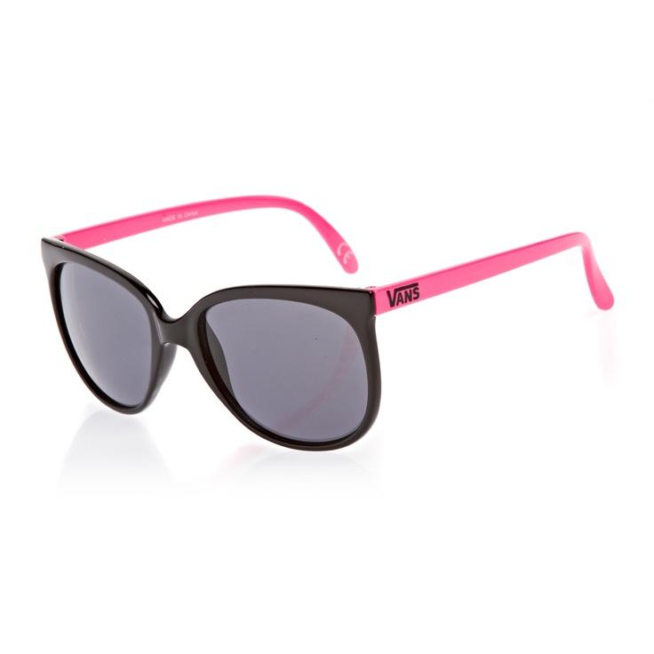 Vans Vans 80s Sunglasses - Black/Neon Pink | Free UK Delivery