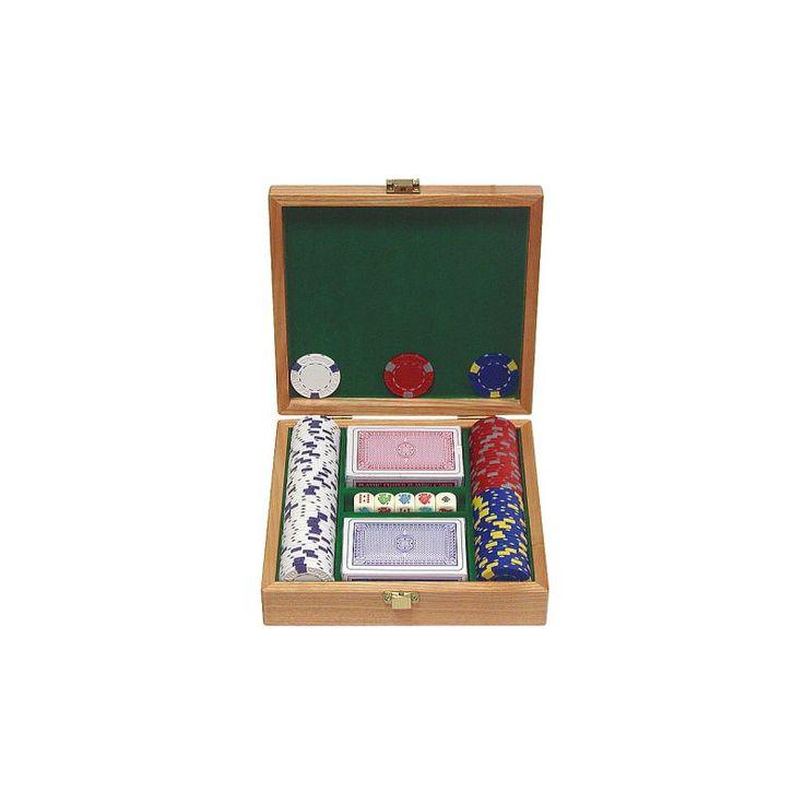 Trademark Poker 100 Pro Clay Casino Chip Poker Set and Case, Green