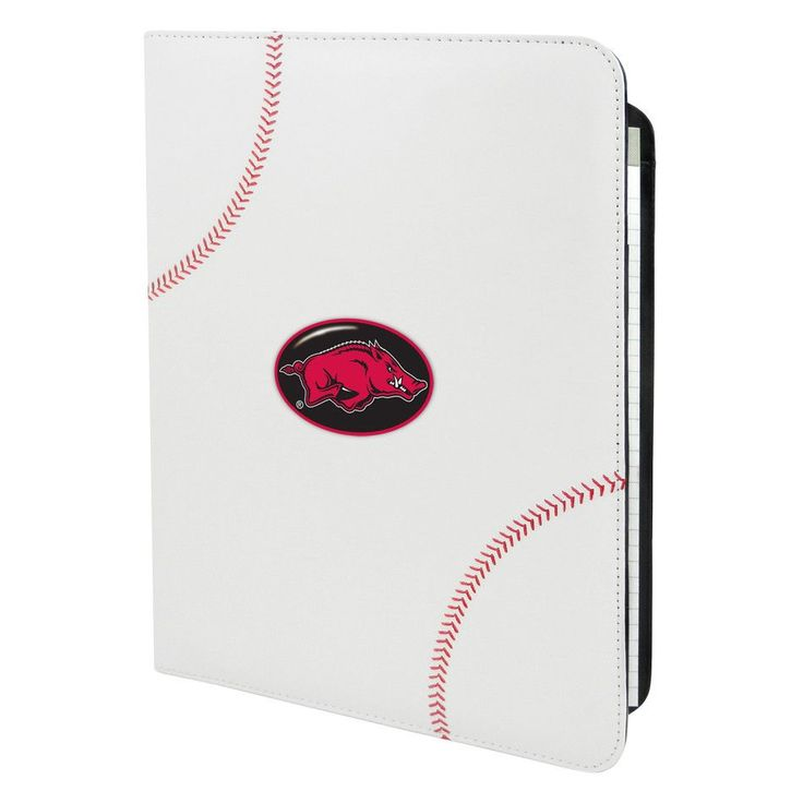 Arkansas Razorbacks Baseball Leather Portfolio