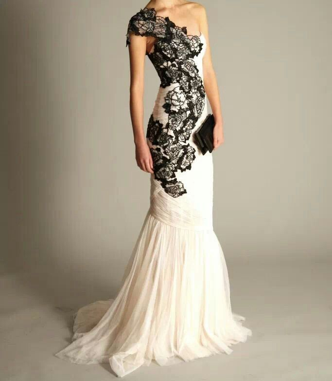 New wedding dresses for young Black and white wedding dress