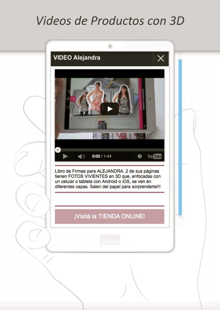 También vas a encontrar VIDEOS de los productos con Fotos Vivientes en 3D http://www.milibrodefirmas.com/