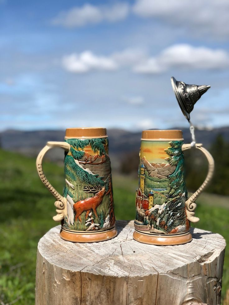 Beer Steins, the perfect gift for a beer lover.  GermanGiftOutlet.com #oma #opa #gift #cute #love #giftideas #present #cheap #inexpensive #mug #grandp…
