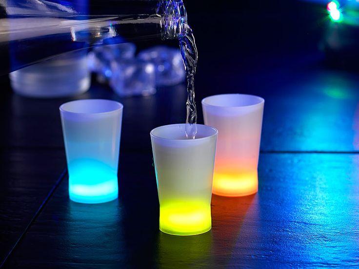 #Leuchtende #Knicklicht-Shot-Gläser in Hellblau, Gelb & Orange. Knicken, leuchten, Spaß haben: So geht Ihnen beim Trinken ein Licht auf!