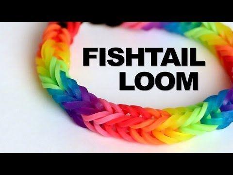 ▶ Fishtail Loom Bracelet - Tutorial    Rainbow Loom - YouTube