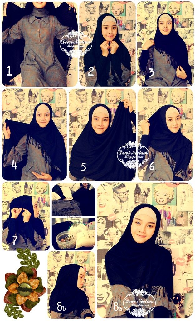Dewi Neelam by Irna: Hijab Tutorial #3 (Daily Wear) : easy n simple