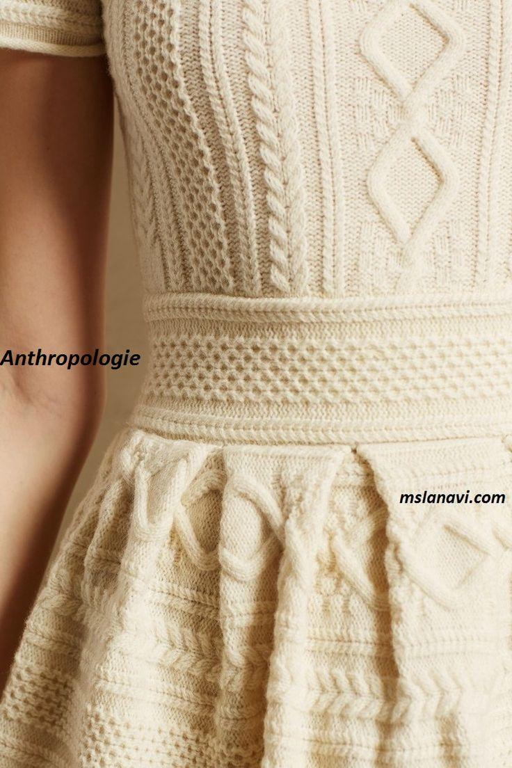 Вязаное платье спицами от Anthropologie http://mslanavi.com/2015/11/vyazanoe-plate-spicami-dlya-zhenshhin-sxemy/