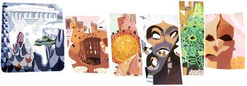 Il doodle di Google è per Antoni Gaudì, l'architetto di Barcellona