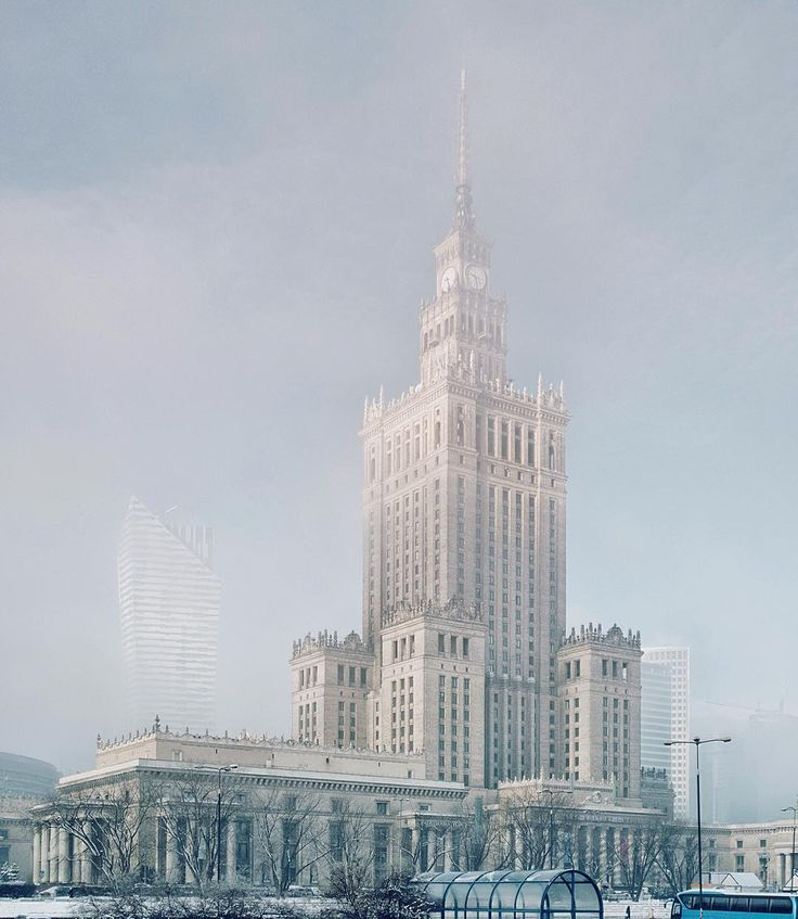 It looks like overexposed photo but it's not. Magic light in Warsaw this morning when the clouds went down to form a fog and everything was lit by blurred sun. I just could not resist to jump off the tram and takie this pic. ------------ #best_streetview #moodygrams #tv_pointofview #nowawarszawa #weekly_feature  #waszawawa #rsa_streetview #visualarchitects #igerspoland #igerswarsaw #imaginatones #creative_architecture #StreetCollectors #citypicz #chasingcity #urbangrammers #urbanromantix…