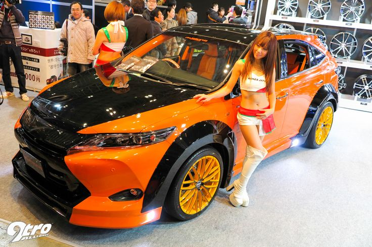2015年東京オートサロン The all-new Toyota Harrier gets plenty of wheel-love as well from Monza Japan.