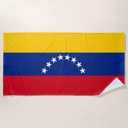Flag of Venezuela Beach Towel - home decor design art diy cyo custom