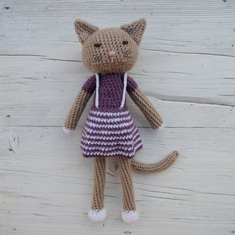 Crochet kitten. Handmade toy. Made with love, made by me.