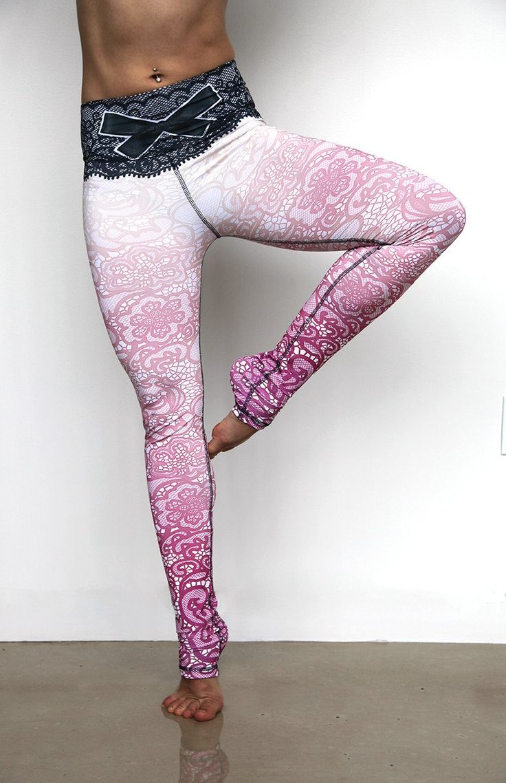 PInk Lace Yoga Pants