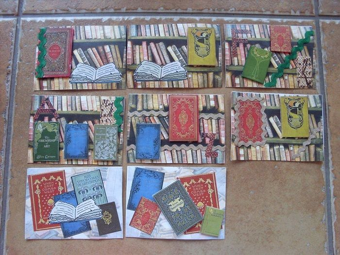 ATC, art trading cards,book, books, kniha, knihy